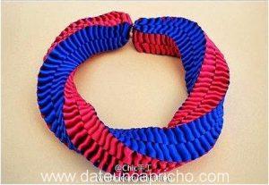 Como hacer una pulsera cuadrada de cintas
