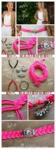 Cinturon glam con cordel