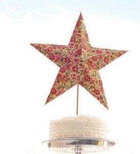 Topper de estrella para decorar un pastel