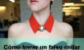 Cómo hacer un collar falso