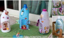Cómo hacer Casas de muñecas con botellas de lejia o detergente