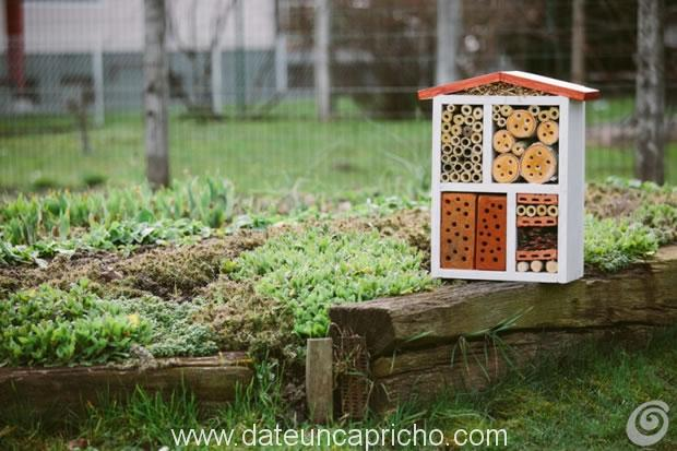 Casita para los insectos beneficiosos del jard n date un for Insectos del jardin