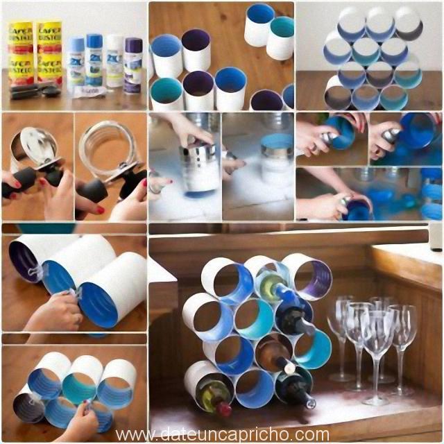 Photo of Construye un botellero con latas vacias