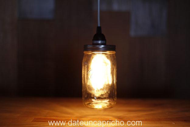 DIY Hanging Mason Jar Light 20