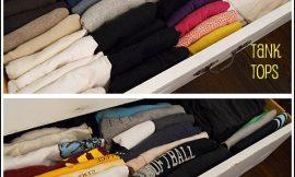 Cómo doblar y organizar las camisetas en un cajón