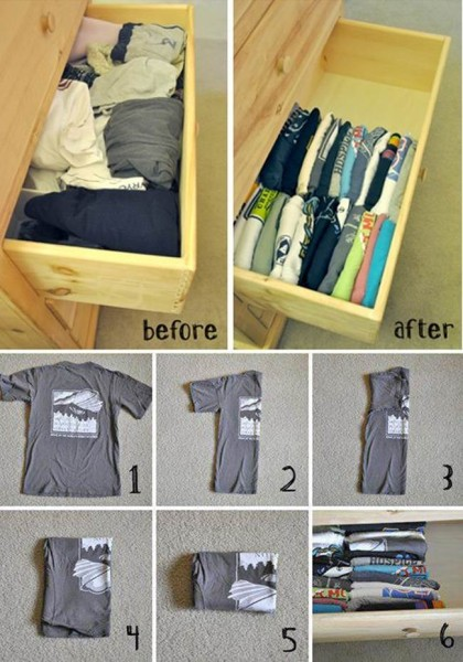 DIY-How-to-Fold-and-Organize-T-shirts-in-a-Drawer