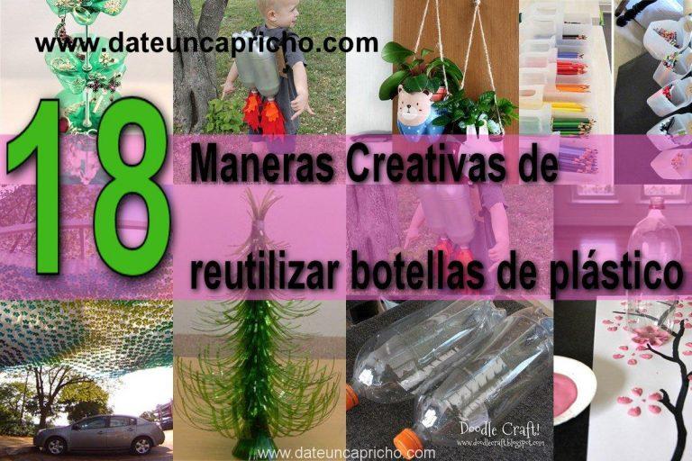 18 Maneras Creativas de reutilizar las botellas de plástico