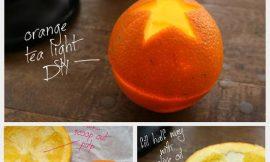Candelabro calado de naranja