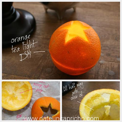 candelero de naranja