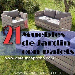 21 muebles de jardin con palets reciclados