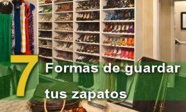 7 maneras de organizar tus zapatos