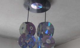 Lámparas con cd o dvd reciclados