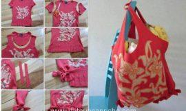 Cómo reciclar una camiseta para convertirla en un bolso