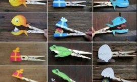 Marionetas de animales con pinzas de la ropa