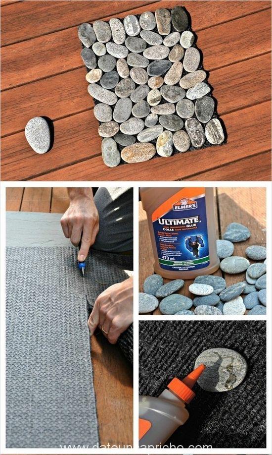 Cómo hacer una estera de guijarros