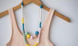 Collar DIY de cuentas de arcilla polimérica