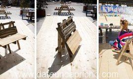 Cómo construir una silla plegable de dos plazas con palés