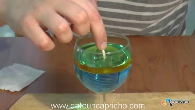 Como hacer una lampara de agua y aceite – video
