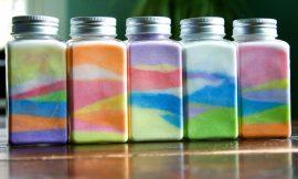 Cómo hacer tarros arco-iris de sal superfácil