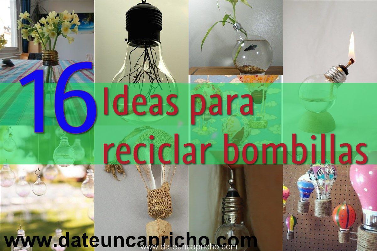 Photo of 16 Ideas para reciclar bombillas