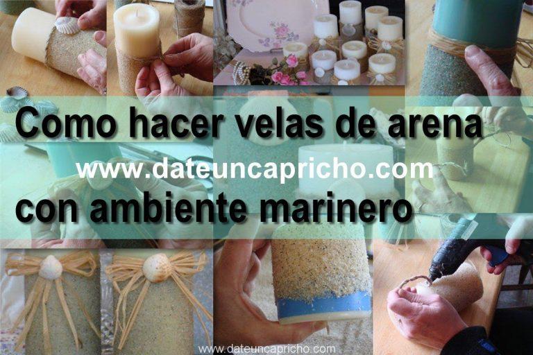 Como hacer velas decorativas de arena y motivos marinos