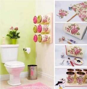 Organizador de toallas para el baño