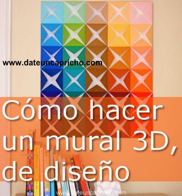 Cómo hacer un mural 3D, de diseño