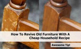 Revivir muebles solo con aceite y vinagre