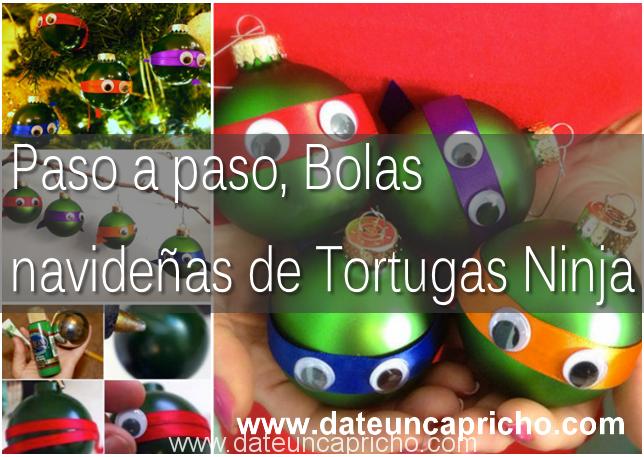 Photo of Paso a paso, Bolas navideñas de Tortugas Ninja