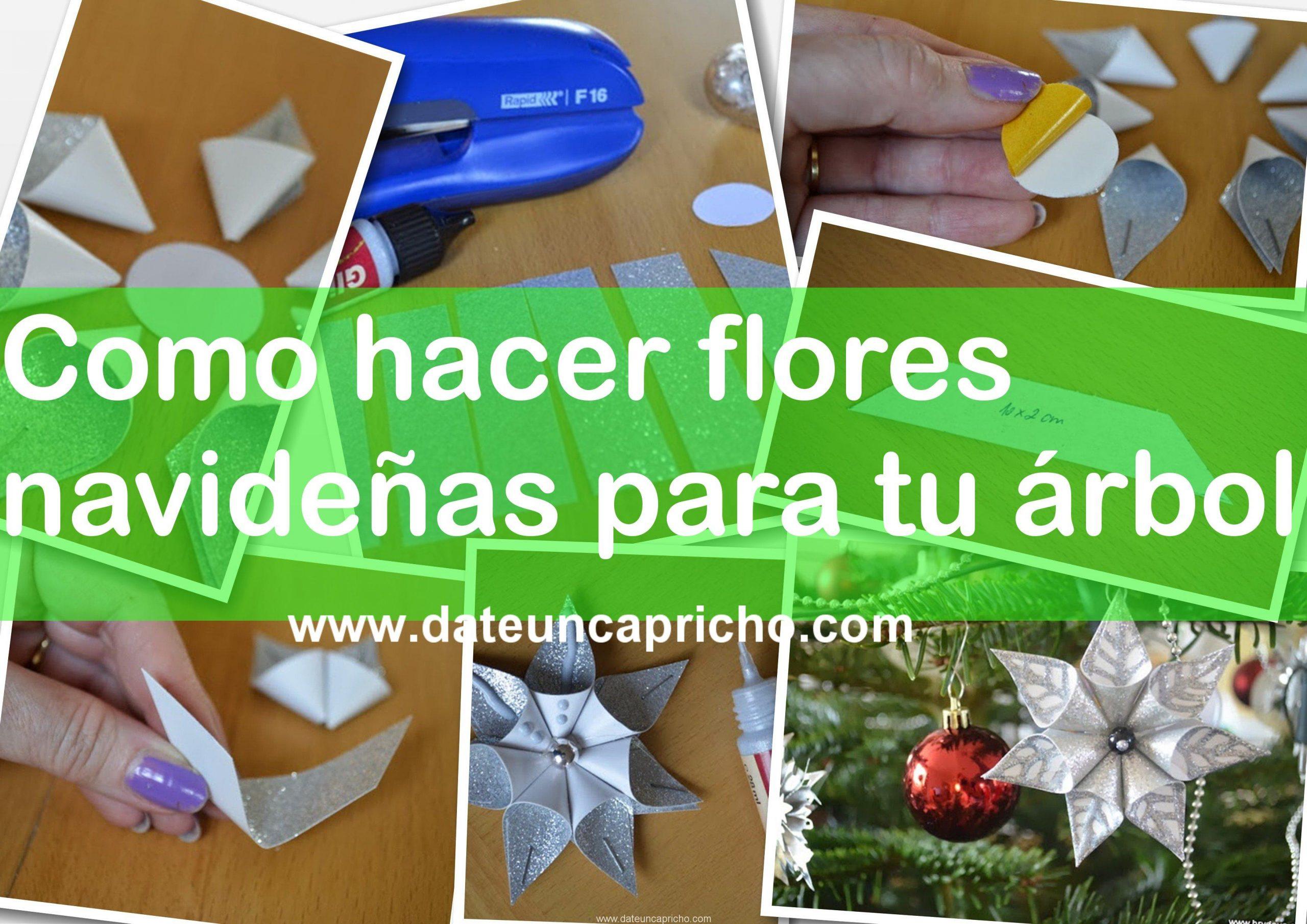 Como hacer flores navideñas para tu árbol