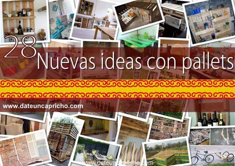 28 nuevas ideas con pallets