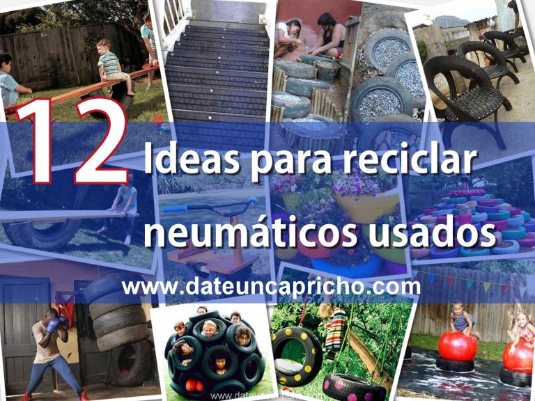 12 ideas para reciclar neumáticos usados