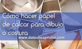 Cómo hacer papel de calcar para dibujo o costura