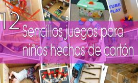 12 sencillos juegos para niños, hechos de cartón