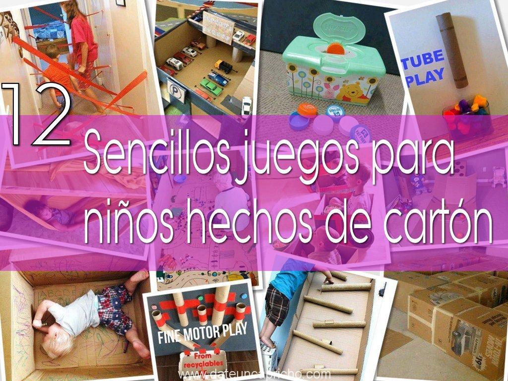 Photo of 12 sencillos juegos para niños, hechos de cartón
