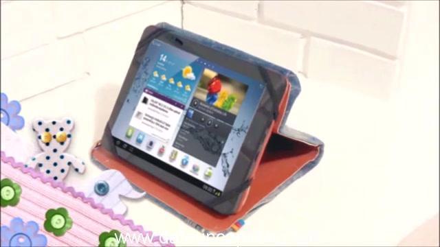 Funda para tablet utilizando unos jeans DIY manualidades reciclando cartón y unos vaqueros 0105