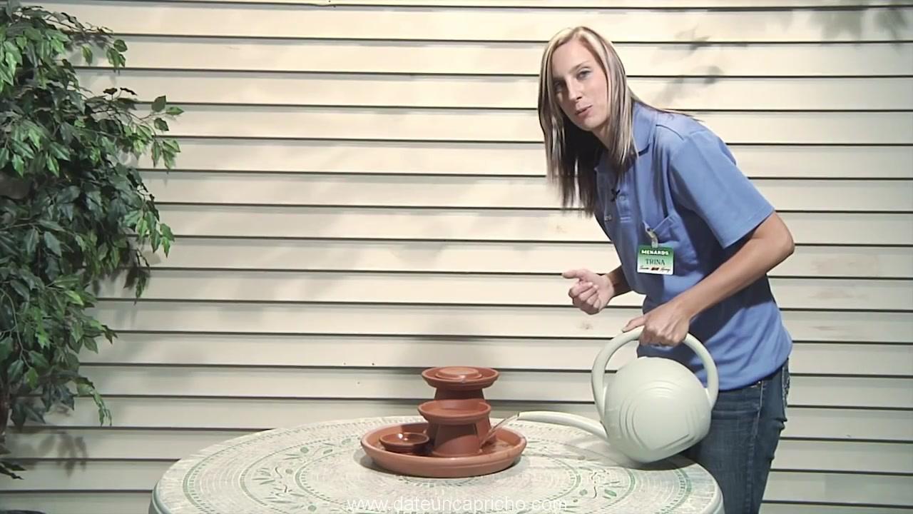 Terra Cotta Fountain How To Build Menards 396