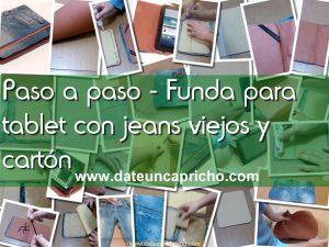 Como hacer una funda para tablet, con unos jeans viejos y cartón