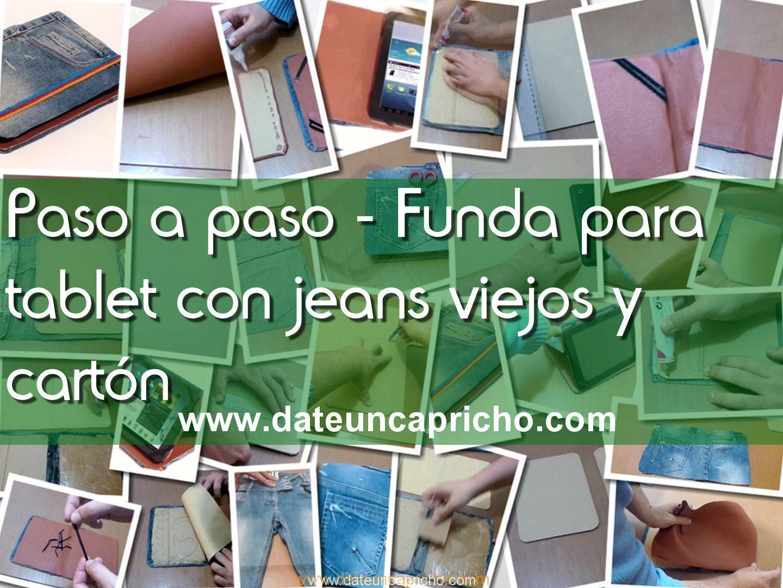 Photo of Como hacer una funda para tablet, con unos jeans viejos y cartón