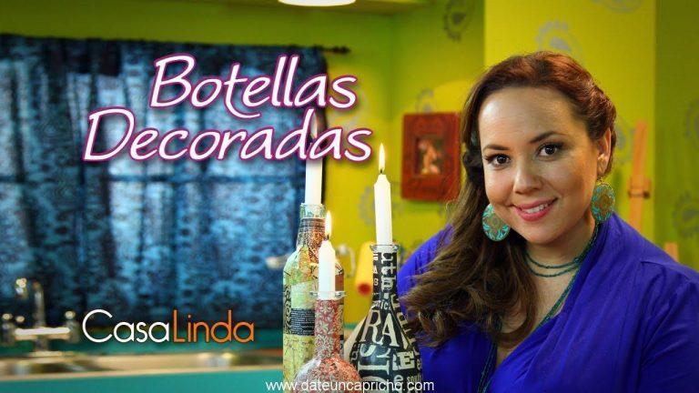 "Botellas decoradas: Técnica ""Decoupage"""