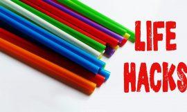6 Life hacks ó trucos caseros con pitillos  – pajitas