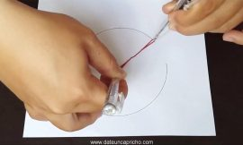 Cómo dibujar un círculo sin compás