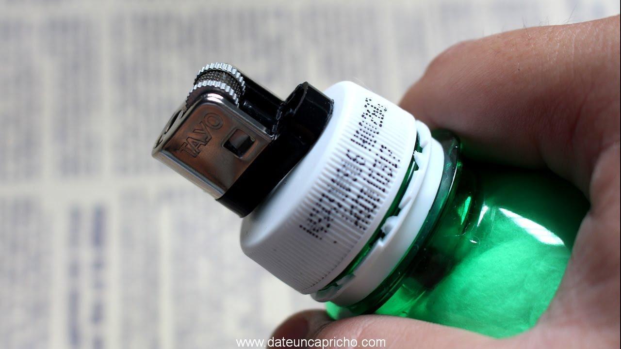 como hacer un encendedor con la botella plastica