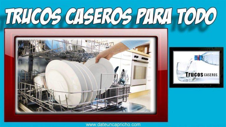 Como limpiar el lavavajillas por dentro con productos naturales – Trucos caseros de limpieza.