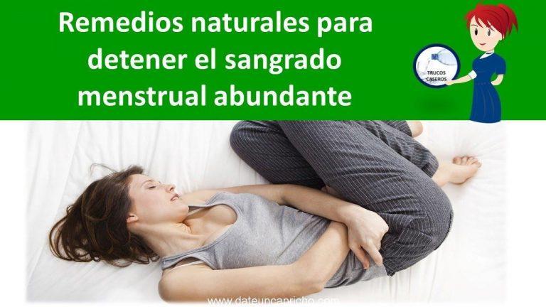 Remedios naturales para detener el sangrado menstrual abundante