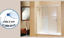 Cómo limpiar la pantalla de cristal del baño con productos naturales- Limpieza de la mampara.