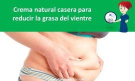 Crema natural casera para reducir la grasa del vientre