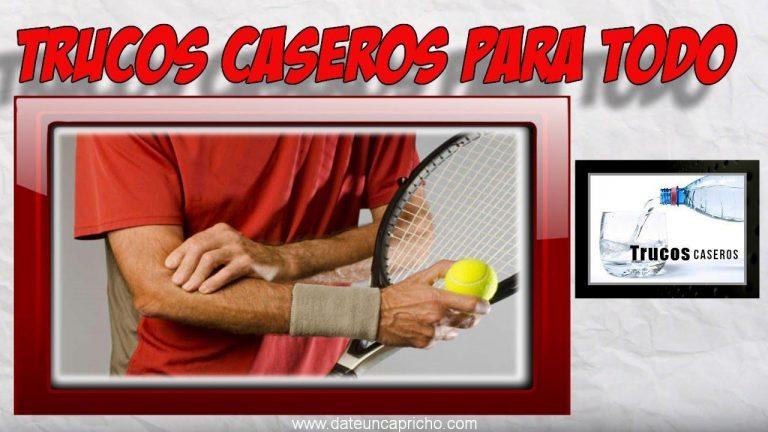 Como aliviar dolor epicondilitis o codo de tenista de forma natural