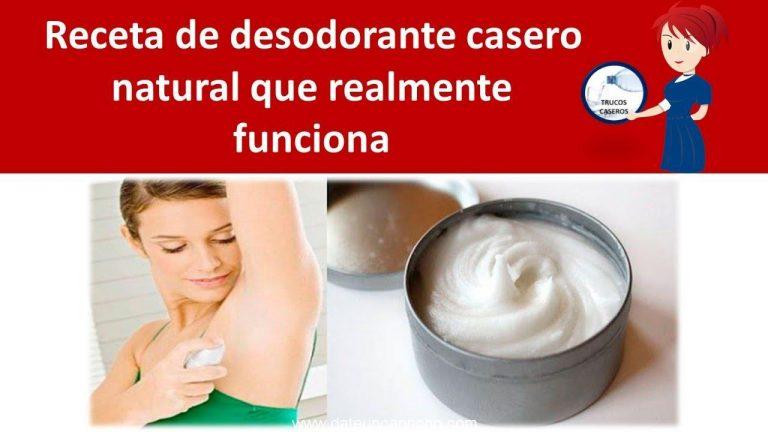 Receta de desodorante casero natural que realmente funciona